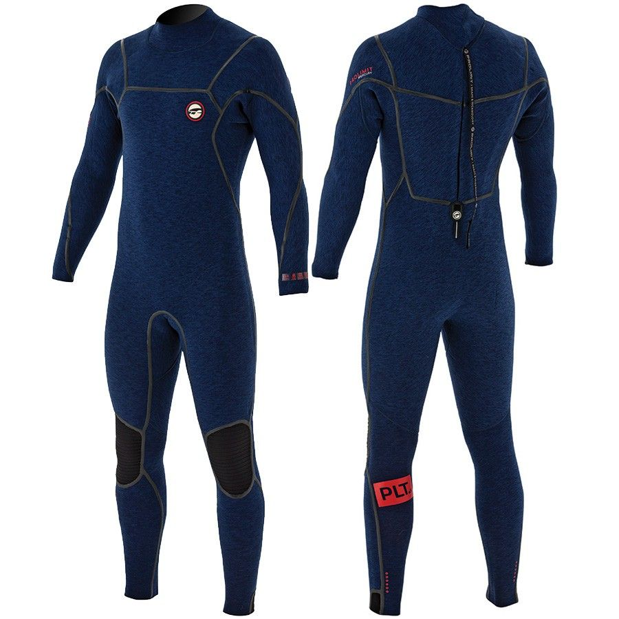 PRO-LIMIT Гидрокостюм Mercury Steamer V-Backzip 6/4 FTM  (84050) син/кр 18-ZM000004589